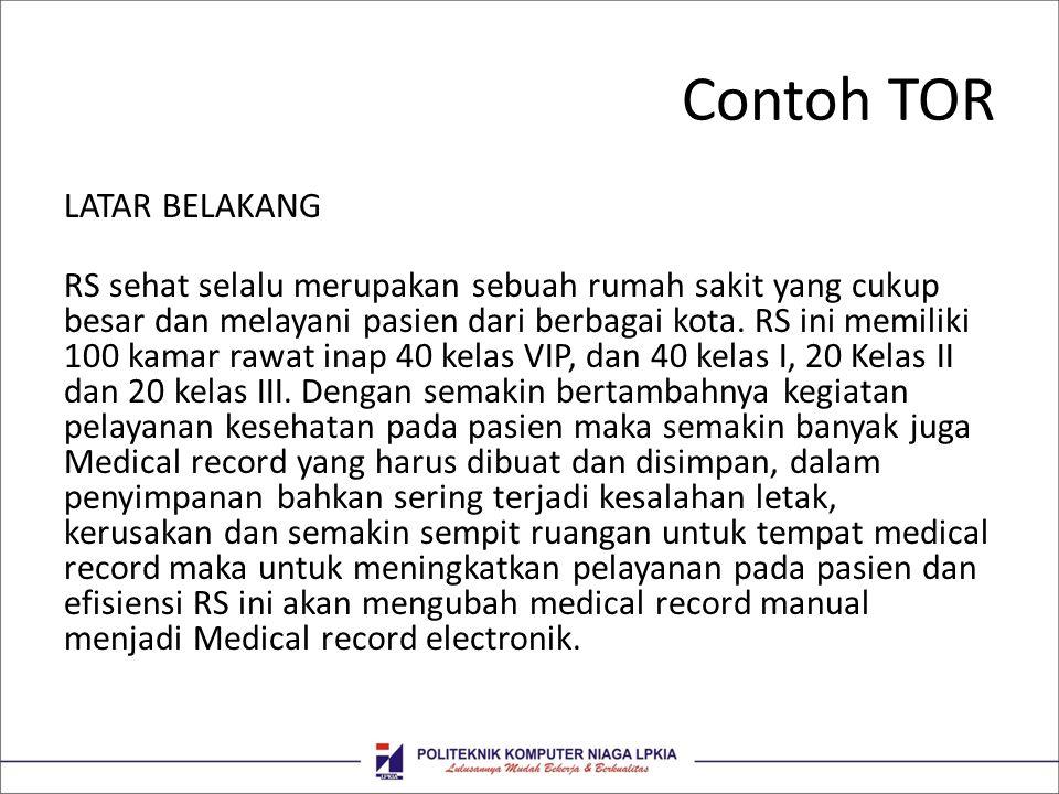 Contoh TOR