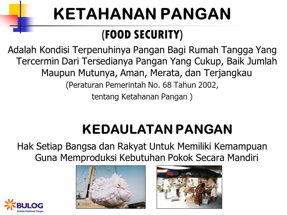 KETAHANAN PANGAN (FOOD SECURITY) KEDAULATAN PANGAN