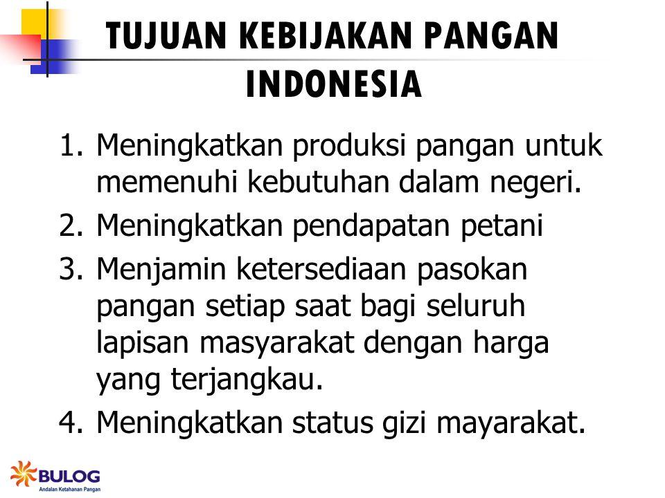TUJUAN KEBIJAKAN PANGAN INDONESIA