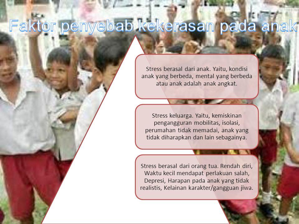 Faktor penyebab kekerasan pada anak