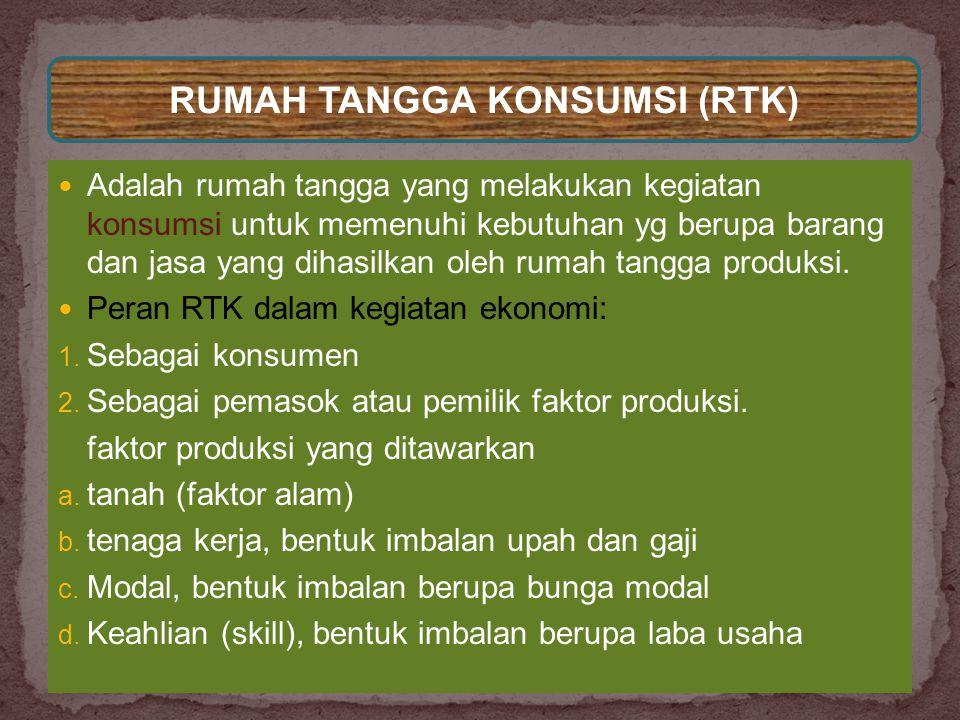 RUMAH TANGGA KONSUMSI (RTK)