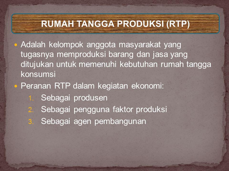 RUMAH TANGGA PRODUKSI (RTP)