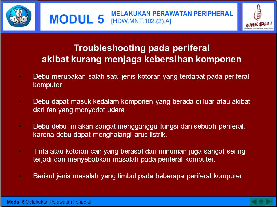 Troubleshooting pada periferal