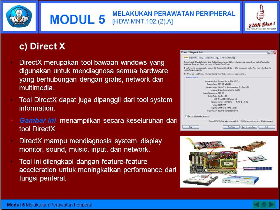c) Direct X