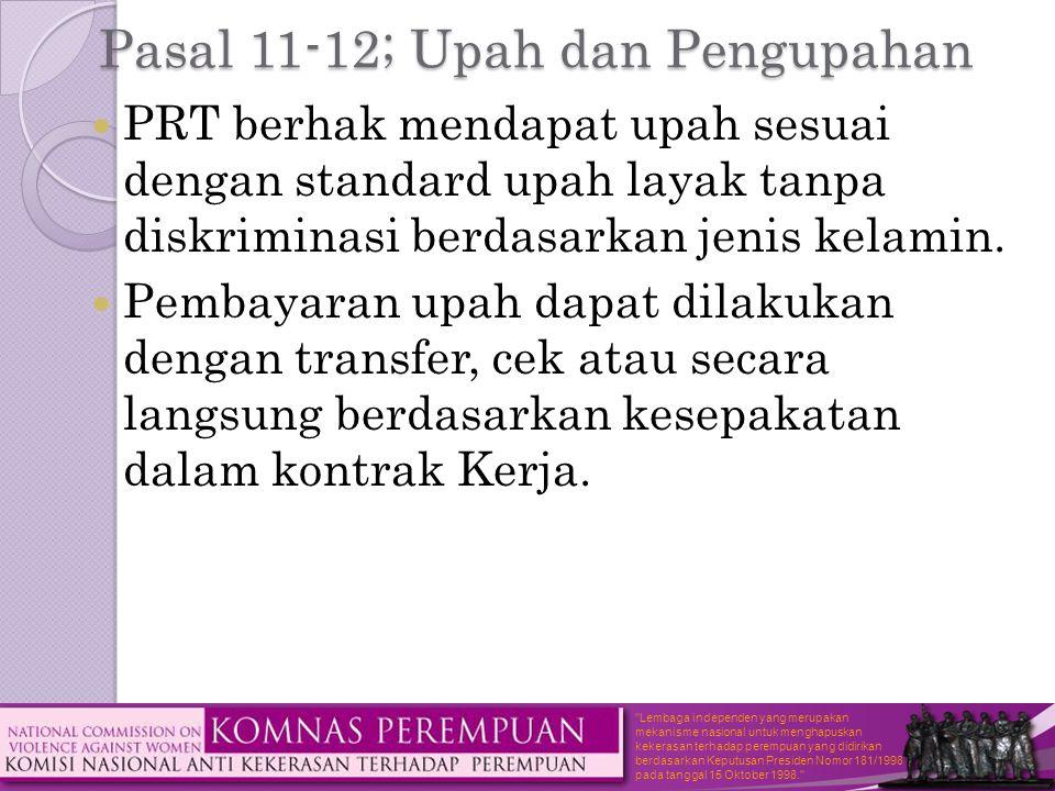 Pasal 11-12; Upah dan Pengupahan