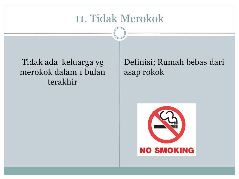 Tidak ada keluarga yg merokok dalam 1 bulan terakhir