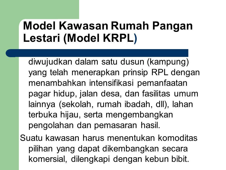 Model Kawasan Rumah Pangan Lestari (Model KRPL)