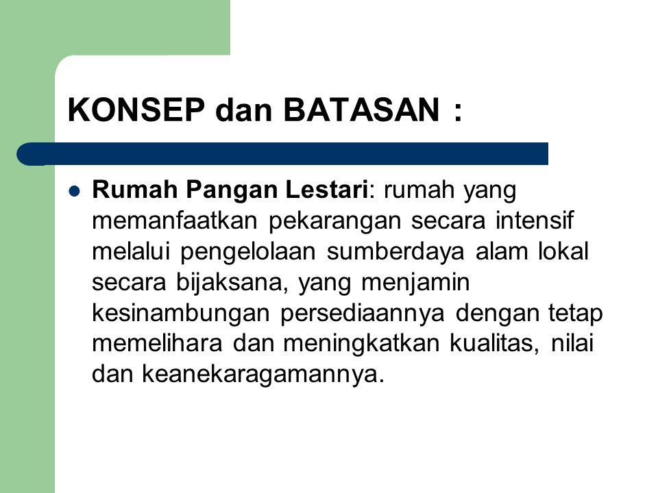 KONSEP dan BATASAN :