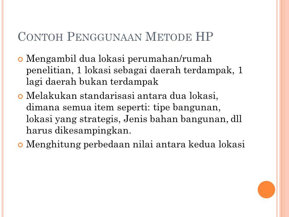 Contoh Penggunaan Metode HP