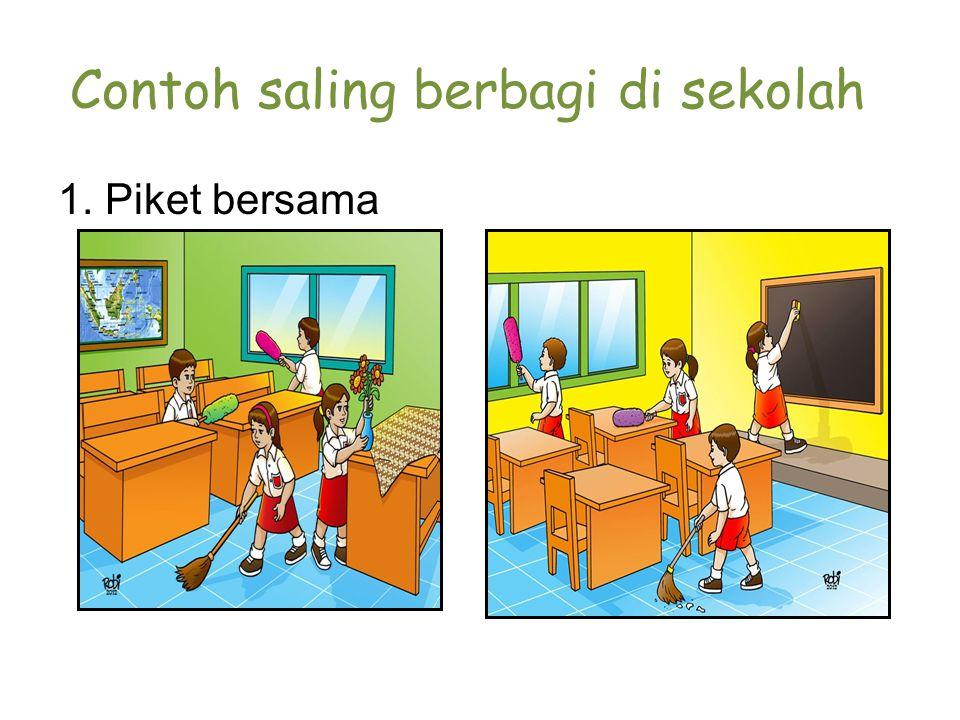 Contoh saling berbagi di sekolah