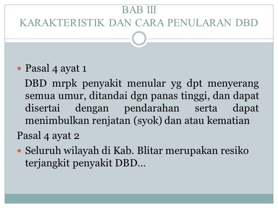 BAB III KARAKTERISTIK DAN CARA PENULARAN DBD