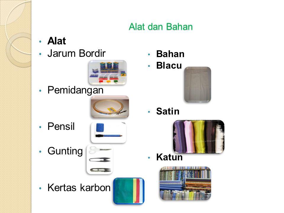 Alat Jarum Bordir Pemidangan Pensil Gunting bordir Kertas karbon
