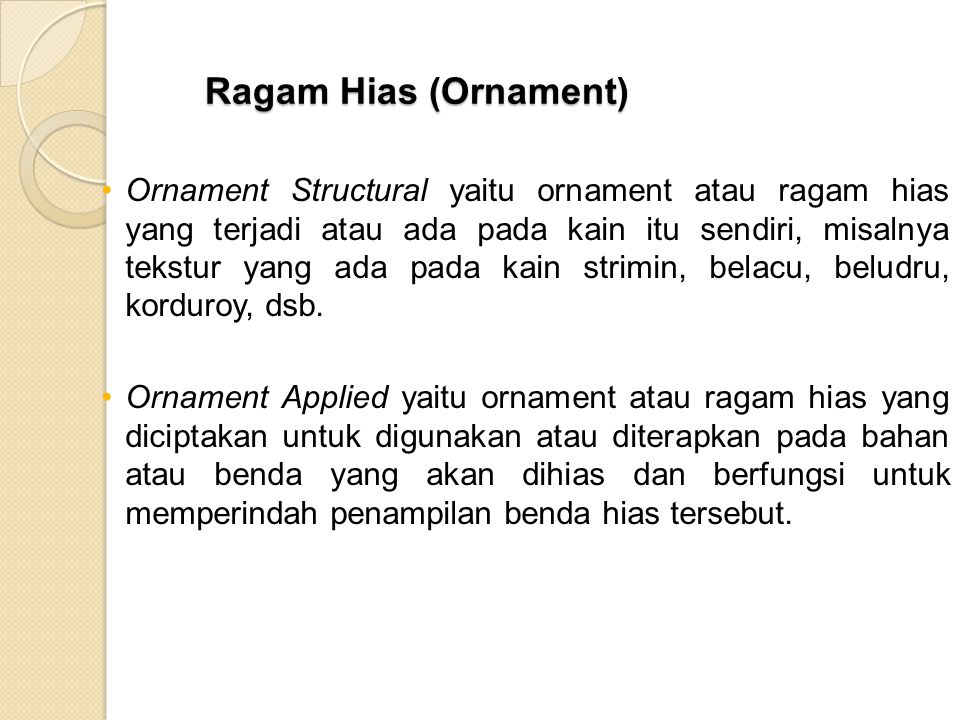 Ragam Hias (Ornament)