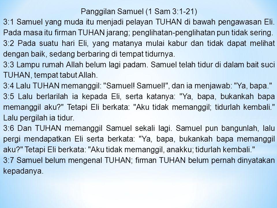 Panggilan Samuel (1 Sam 3:1-21)