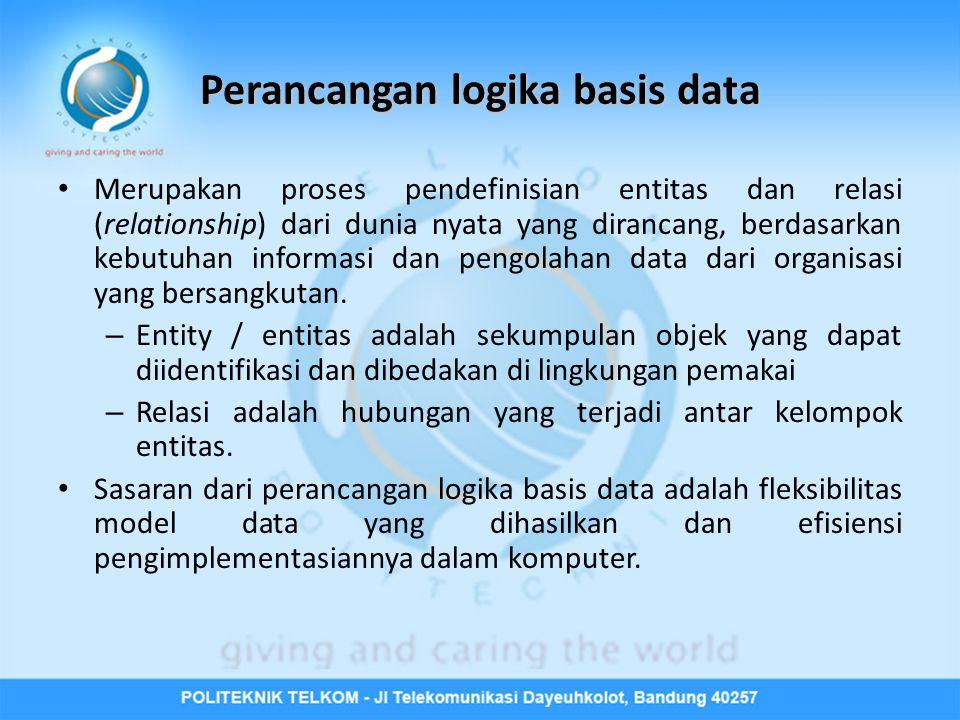 Perancangan logika basis data