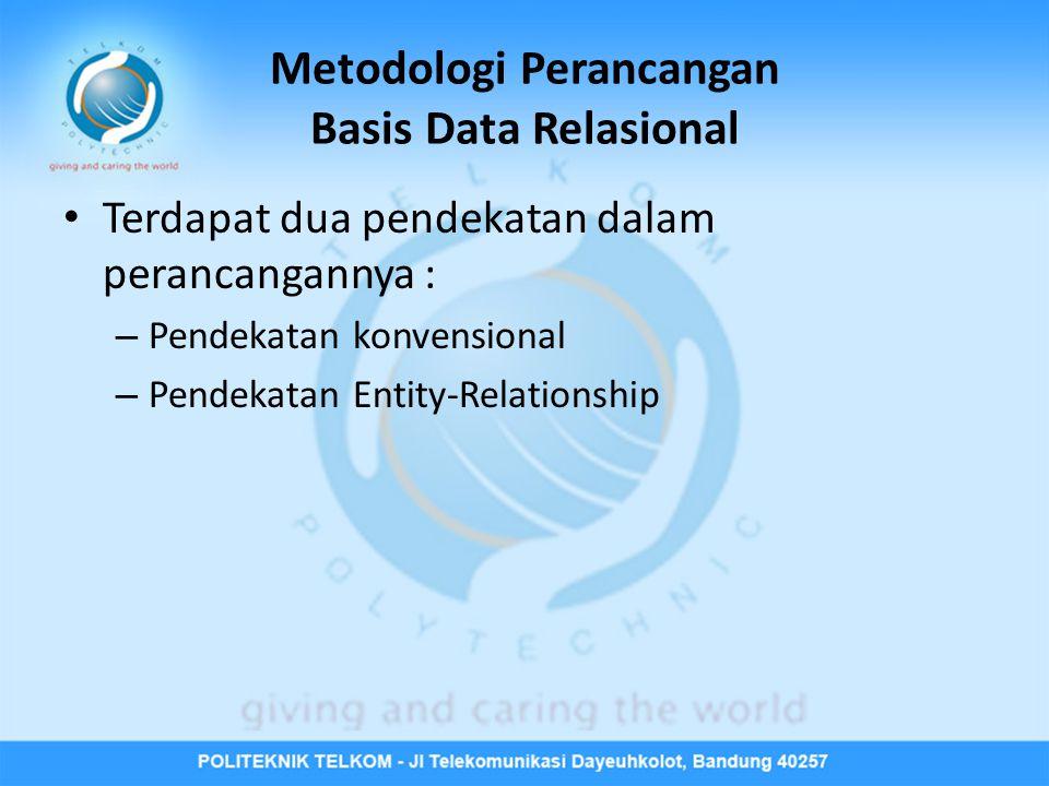 Metodologi Perancangan Basis Data Relasional