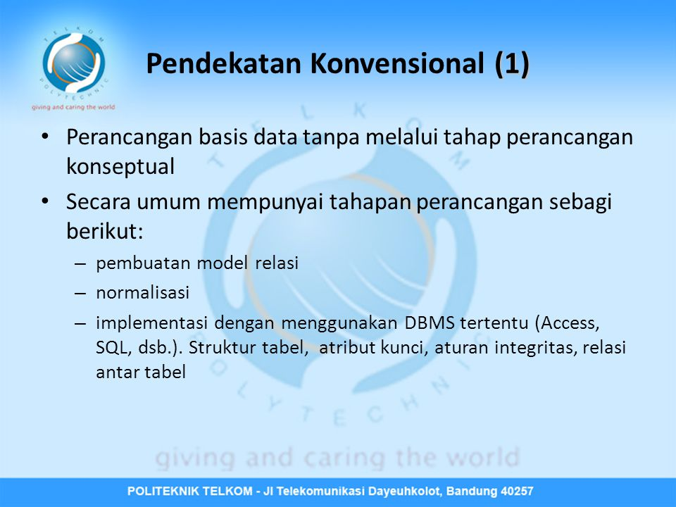 Pendekatan Konvensional (1)