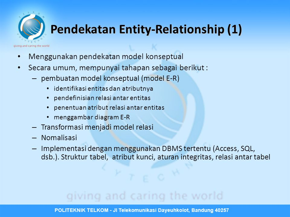 Pendekatan Entity-Relationship (1)