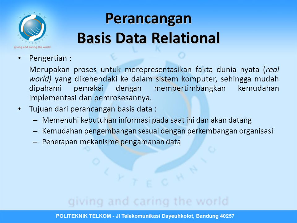 Perancangan Basis Data Relational