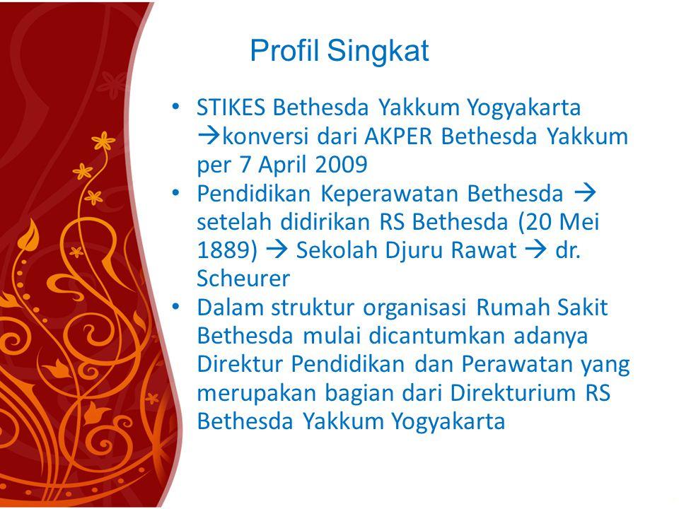 Profil Singkat STIKES Bethesda Yakkum Yogyakarta konversi dari AKPER Bethesda Yakkum per 7 April 2009.