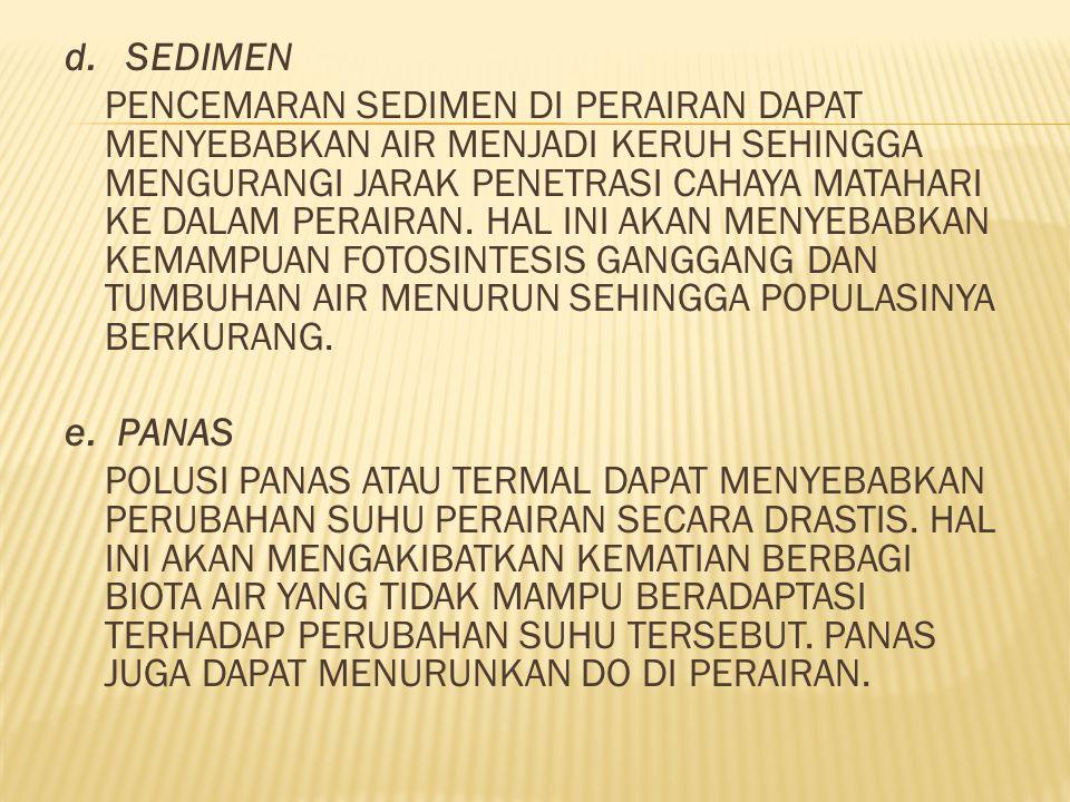 d. SEDIMEN