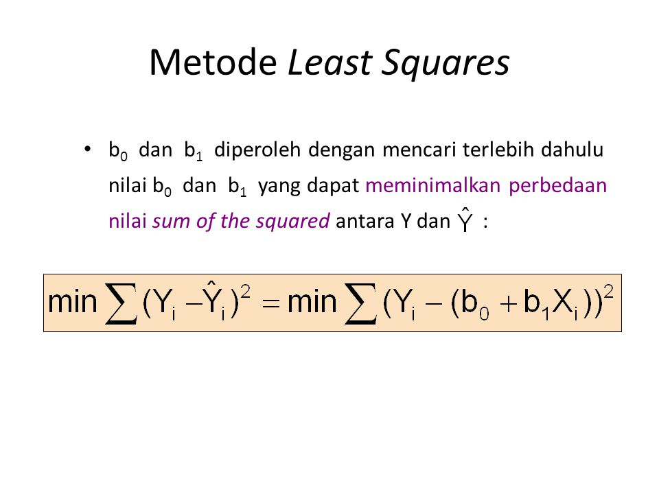 Metode Least Squares