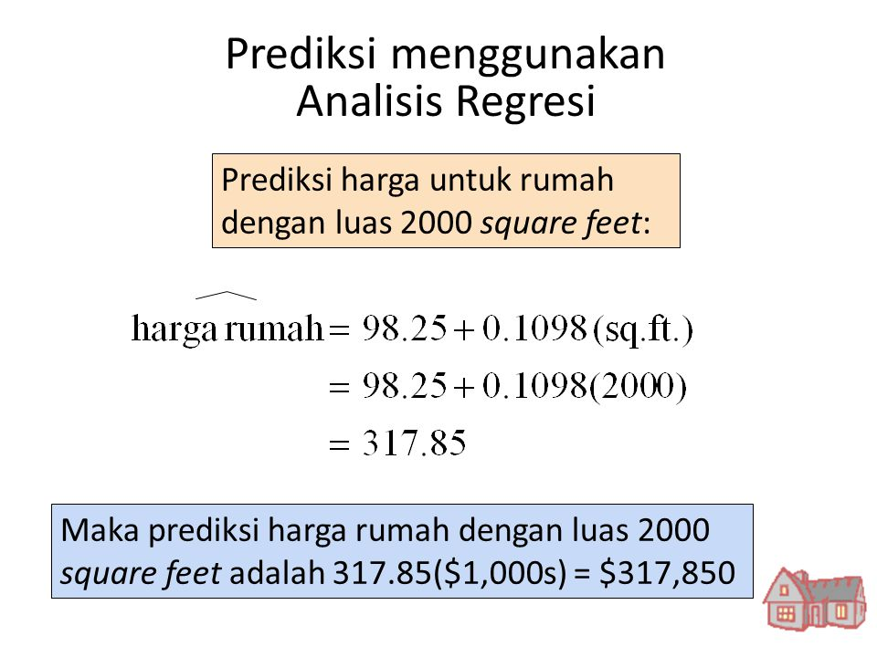 Prediksi menggunakan Analisis Regresi