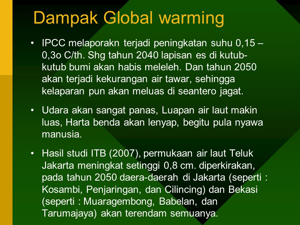 Dampak Global warming