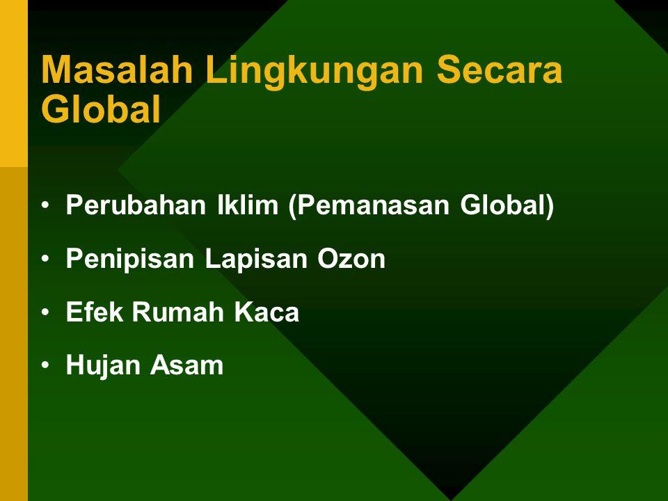 Masalah Lingkungan Secara Global