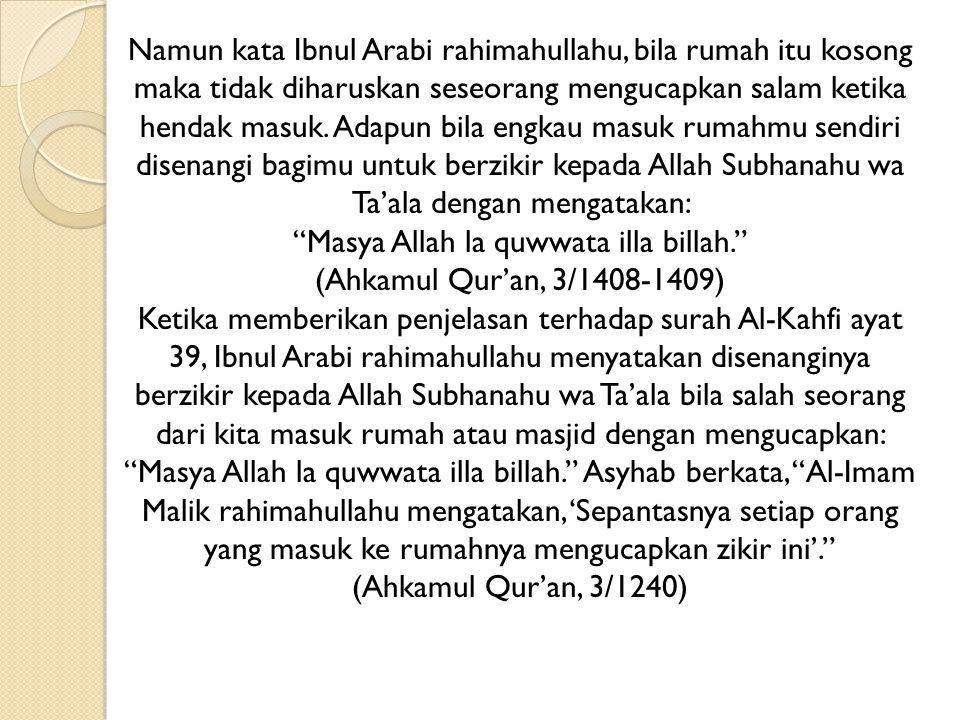 Masya Allah la quwwata illa billah.