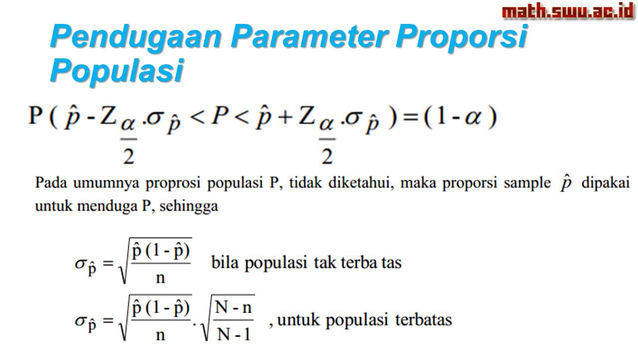 Pendugaan Parameter Proporsi Populasi