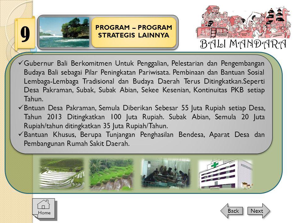BALI MANDARA 9. PROGRAM – PROGRAM. STRATEGIS LAINNYA.