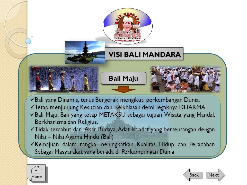VISI BALI MANDARA Bali Maju