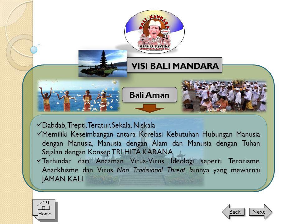 VISI BALI MANDARA Bali Aman Dabdab, Trepti, Teratur, Sekala, Niskala