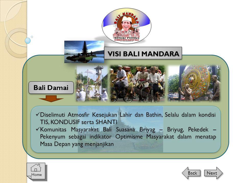 VISI BALI MANDARA Bali Damai