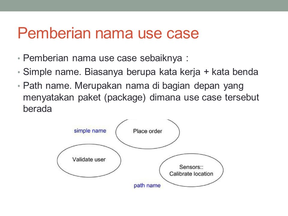 Pemberian nama use case