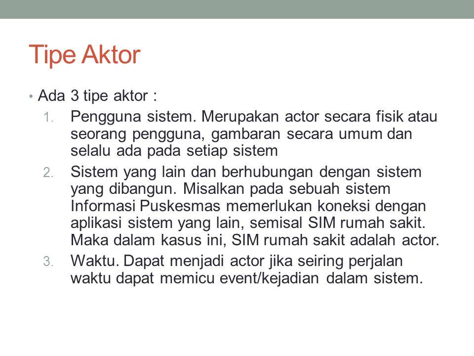 Tipe Aktor Ada 3 tipe aktor :