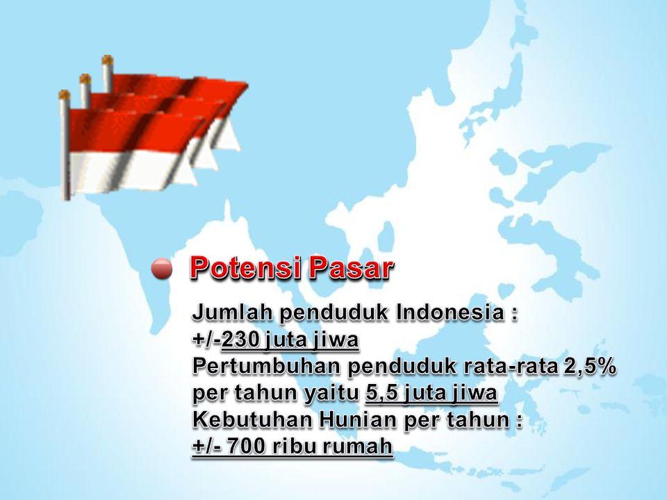 Potensi Pasar Jumlah penduduk Indonesia :