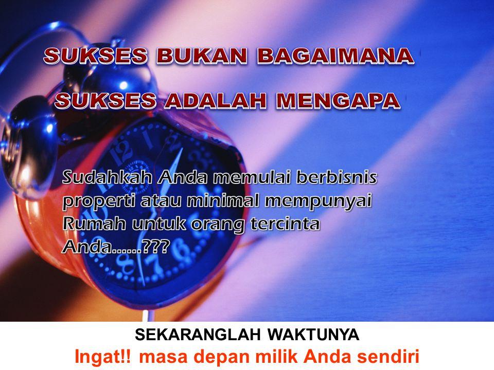 Ingat!! masa depan milik Anda sendiri