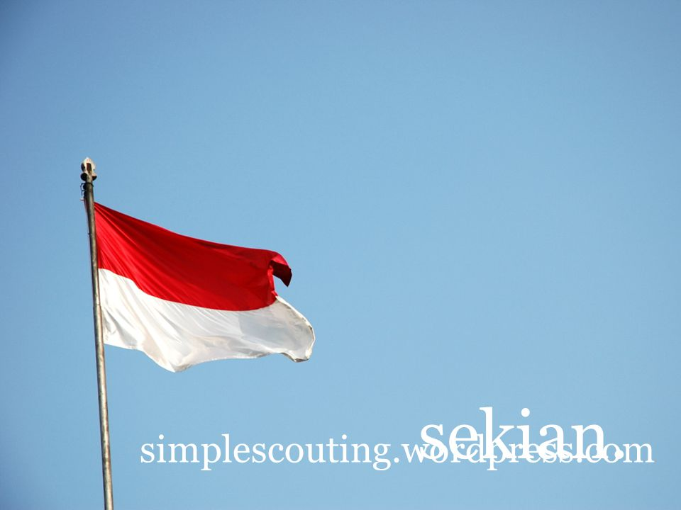 sekian. simplescouting.wordpress.com
