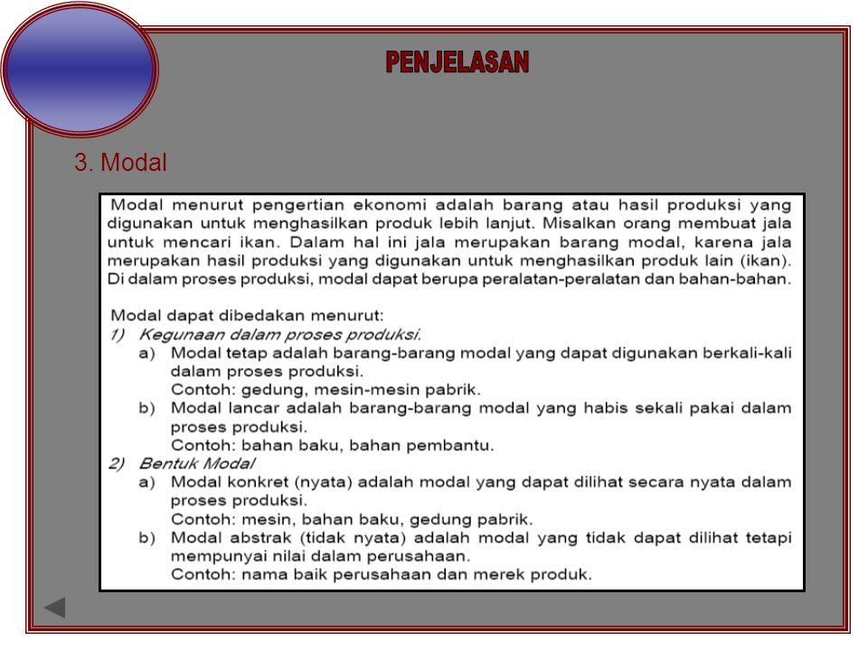 PENJELASAN 3. Modal