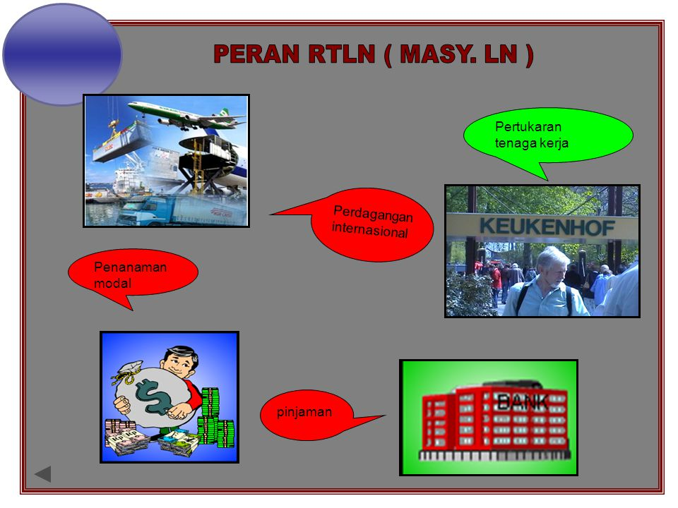 a. PERAN RTLN ( MASY. LN ) Pertukaran tenaga kerja