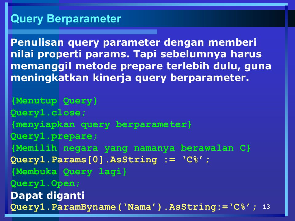 Query Berparameter