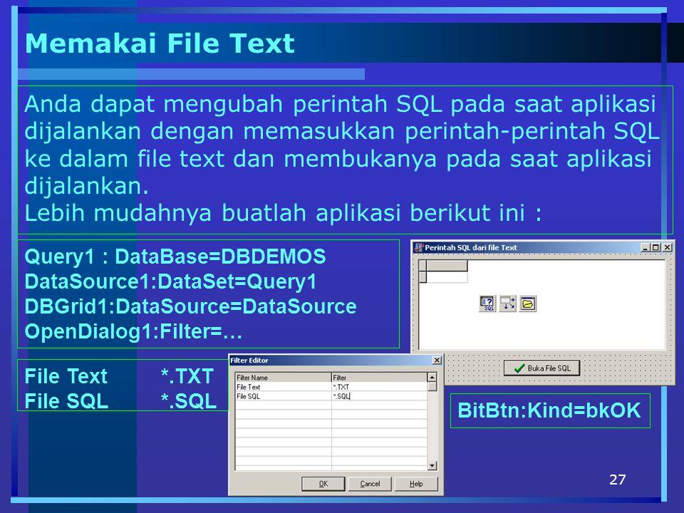 Memakai File Text