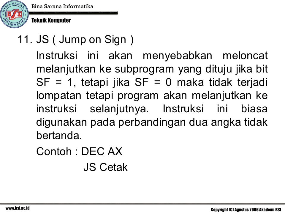 JS ( Jump on Sign )