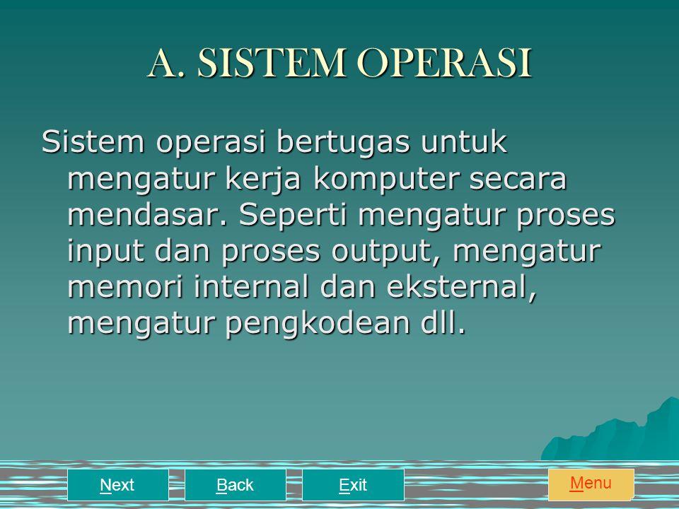 A. SISTEM OPERASI