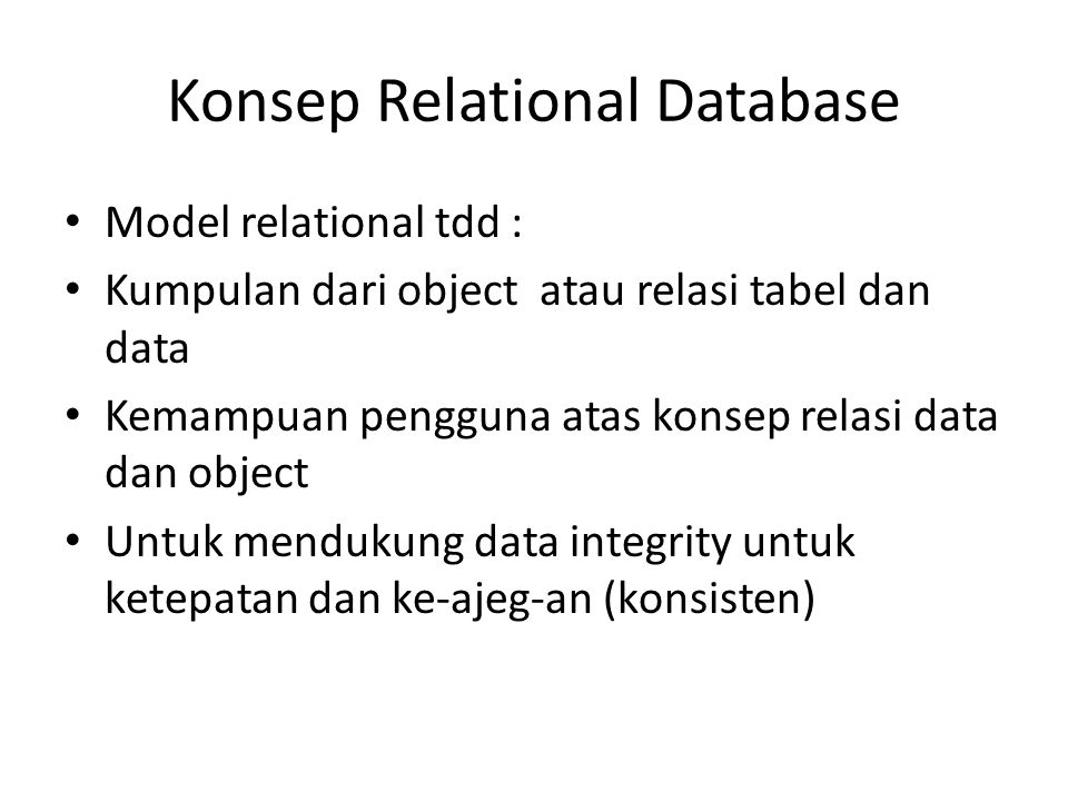 Konsep Relational Database
