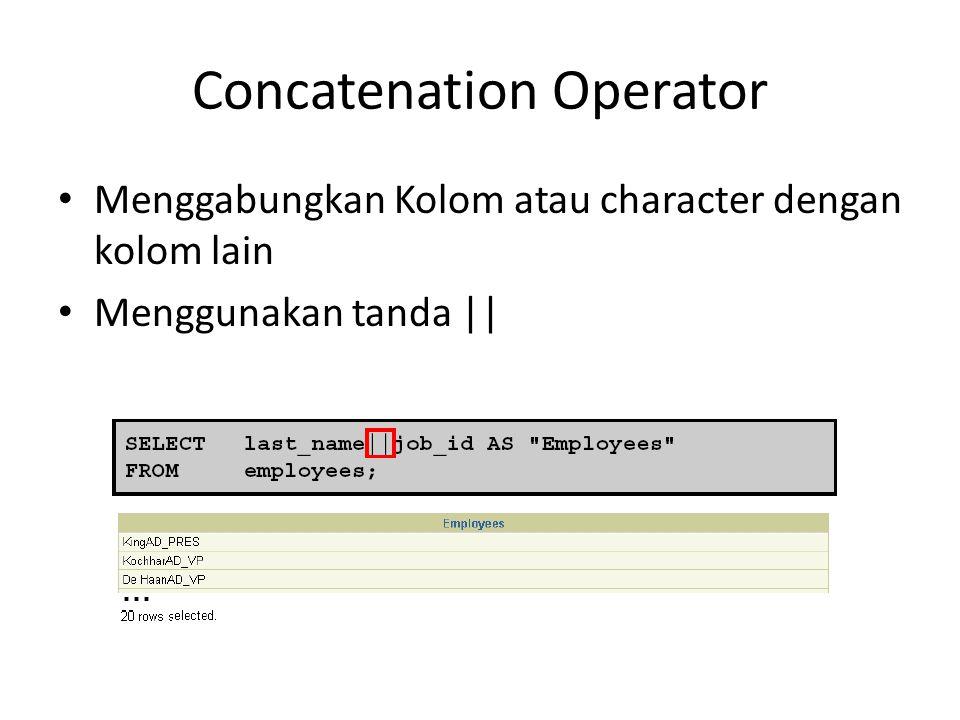 Concatenation Operator
