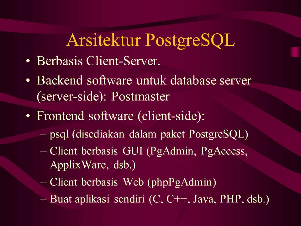 Arsitektur PostgreSQL