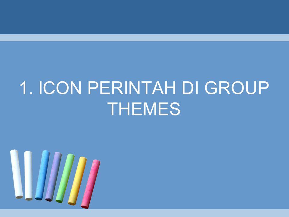 1. ICON PERINTAH DI GROUP THEMES